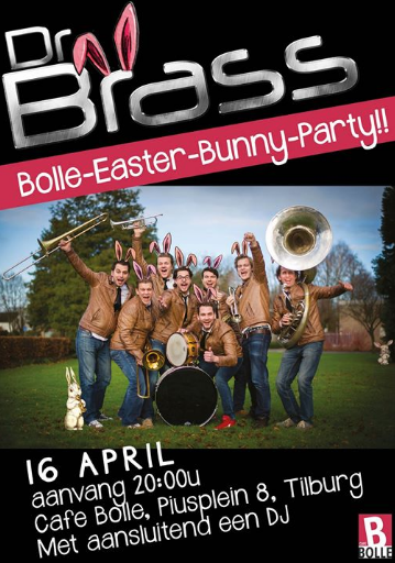 Bolle Easter Bunny Party met DR BRASS